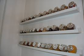 Accesories & Decors,Wall Mounted Ikea Spice Rack Hang On White Wall Kitchen  Painted As