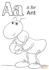 Small Picture Coloring Pages Letter A Is For Ant Coloring Page Free Printable
