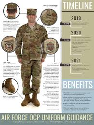Army Deployment Patch Chart 2019 Air Force Senior Leaders Update Ocp Uniform Guidance U S