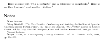 Endnotes References Footnotes Which Follow Citation Numbering And Only Appear