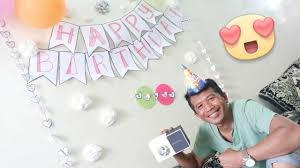 Diy Birthday Decorations Surprise Husbands Birthday Diy Simple Decorations Youtube