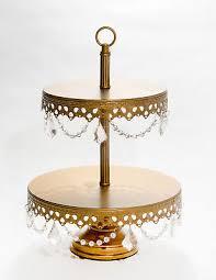 ont treasures 2 tier chandelier dessert plate tiered stand