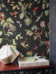 Bolcom Tropische Bloemen En Vogel Behang In Donkerblauw