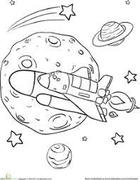 Rad Rocket Ship Coloring Page Space Unit Ideas Including Sun