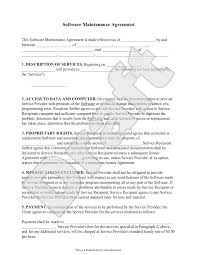 Sample Maintenance Contract Template Software Maintenance Agreement Template With Sample Software 7