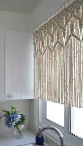 kitchen macrame curtains bohemian short curtain by knotsquared