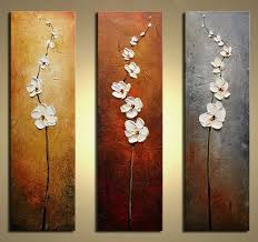 hand painted flowers Dancing Petals Modern Canvas knife painting ...