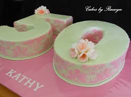 Impossible Stencilling For Kathys 50th Birthday Cakecentralcom