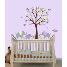 purple jungle wall decals with elephant wall art for play rooms