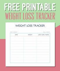 Printable Weight Chart Tracker Pin On Calendar 2018