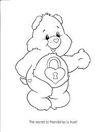 Small Picture Care Bears Coloring Pages for Kids Free Printable Coloring