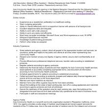 Medical Receptionist Job Description Resume Job Description Resume Examples Of Descriptions For Resumes 79