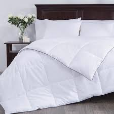 puredown white down alternative comforter duvet insert 100 polyester white full