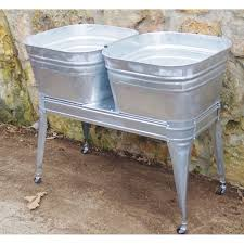 square wash tub