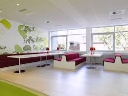 creative office ideas. Office \u0026 Workspace. Spacious Room Creative Ideas Feature Ivory Wall Leaf Painting Themes I