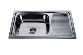 wy 7544 stainless steel sink kitchen with drain board cera wash basin in india
