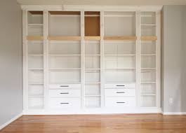 view larger diy built in bookcase