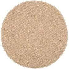 natural fiber tan beige 3 ft x 3 ft round area rug