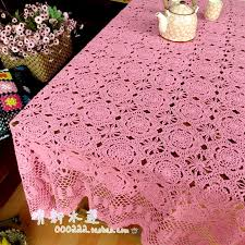 free handmade hook crochet lace flowers table cover knitted cutout dining table cloth bed cover sheet curtain