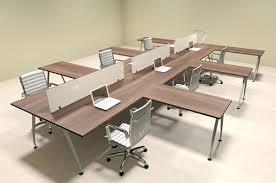 office desk workstation.  Workstation Six Person Acrylic Divider Office Workstation Desk Set OFCONAP53  Inside R