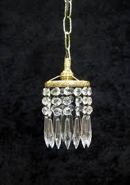 italian art deco crystal glass chandelier pendant