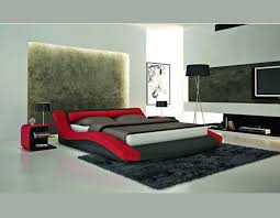 Modern leatherette platform bed CR1930