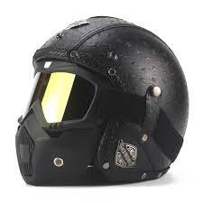 new retro vintage motorcycle helmet synthetic leather moto helmet cruiser touring chopper 3 4 open face dot glasses mask sport motorcycle helmets sportbike