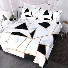 white duvet cover queen irregular geometric printed bedding set black and white duvet cover set marble