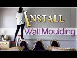 diy how to install wall moulding molding trim living room makeover