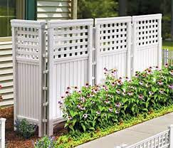 outdoor privacy fence contemporary made in usa white uv resistant 4 panel resin screen hides garbage cans recyclables bikes portable patio enclosure with 6