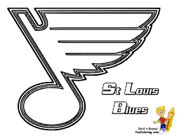 Pro Ice Hard Hockey Coloring Pictures! St Louis Blues! http://www ...