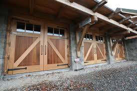 garage barn doorsTimber Frame Barn Doors  New Energy Works