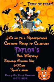 mickey mouse party invitation halloween costume party invitations mickey mouse birthday 1