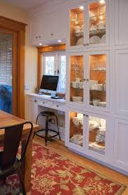 kitchen cabinets home office transitional: shallow kitchen cabinets home office transitional with none image by heather merenda