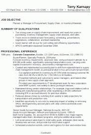 Supply Chain Management Resume Examples Terry1 Pictures Charming