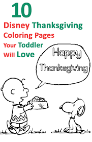 Top 10 Disney Thanksgiving Coloring Pages