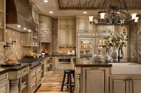 This gorgeous kitchen design proves that a rustic look and a luxury feel  are not mutually exclusive things.