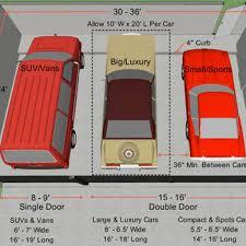 double garage door width