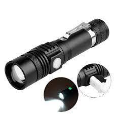 Đèn pin cầm tay T6 LED 150Lm sạc USB tiện dụng