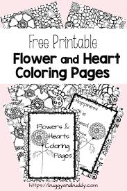 And as a fun added extra, we've adapted our coloring pages into printable card versions for you to download, color and send to loved ones. Free Printable Flower And Heart Coloring Pages Buggy And Buddy