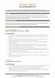 Accounting Officer Resume Samples Qwikresume