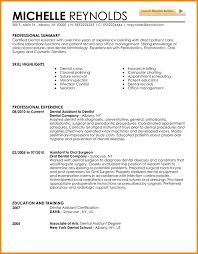 Resume For Dental School Entry Level Dental Assistant Resume Dental