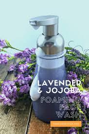 lavender and jojoba foaming face wash