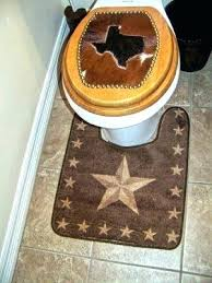 texas star rug bathroom decor lone star brown rug to put around the commode rangers bathroom texas star rug