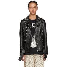 gucci black studded bugs bunny leather jacket
