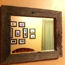 wood mirror frame. Rectangle Wood Mirror Rustic Frame Reclaimed Barn By R Rectangular