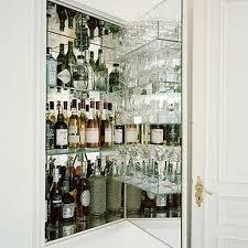 mirrored liquor cabinet design ideas