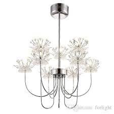restaurant chandelier lights modern minimalist ceiling crystal chandelier creative personality hotel bedroom pendant led chandeliers lights cream chandelier