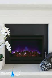 amantii 32 built in zero clearance electric fireplace w square steel surround zecl 31 3228 stl sqr