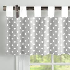 tab top valance. Fine Tab Gray And White Dots Stripes Window Valance TabTop On Tab Top A